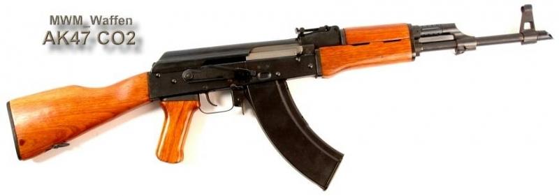 Art.: 30721, AK47M CO2 4,5mm Vers.2 Yunker mit Holzschäftung