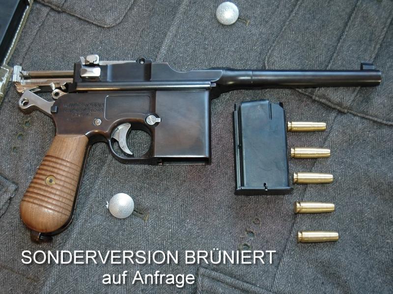 Art.: 50102, Mauser M712 Gold Vollmetall FireCaps Modellpistole